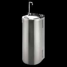 Нержавеющий питьевой фонтан с нажимной арматурой, монтаж к стене, арматура для налива стакана SLUN 43S