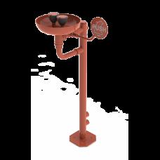 Нержавеющий отдельно стоящий глазной душ с двумя головками, чашей и пусковым рычагом SLSN 25