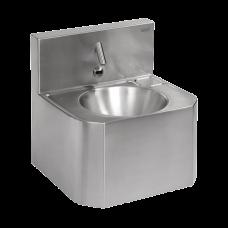 Антивандальный нержавеющий автоматический умывальник, для подачи холодной и теплой воды, с термостатическим смесителем, 24 В пост. SLUN 72ET