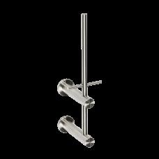 Нержавеющий вертикальный держатель для одного рулона туалетной бумаги, матовая поверхность SLZN 47