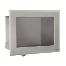 Антивандальный нержавеющий встраиваемый автоматический умывальник, для подачи холодной и теплой воды, 6 В SLUN 76EB