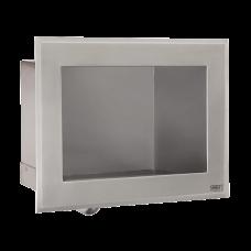 Антивандальный нержавеющий встраиваемый автоматический умывальник, для подачи холодной и теплой воды, с термостатическим смесителем, 24 В пост. SLUN 76ET