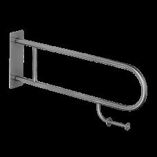 Нержавеющий прoчный поручень с держателем туалетной бумаги SLZM 03DXP