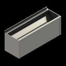 Антивандальный нержавеющий подвесной желоб с облицовкой, AISI 304, 1250 мм SLUN 10PA